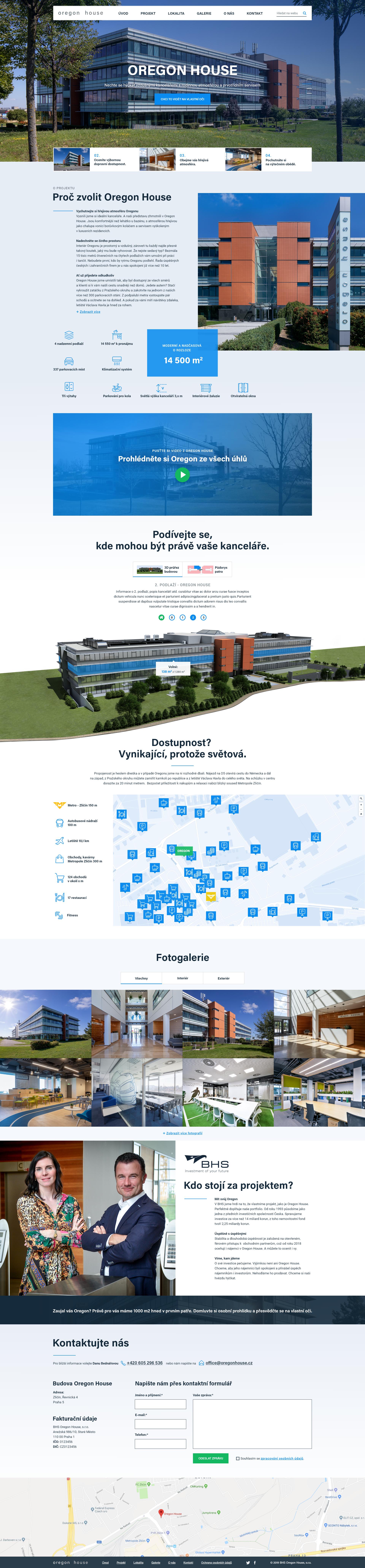 Grafický webdesign pro Oregon House